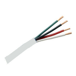 156554WH - Security Wire - 18 AWG/4 Conductor, CL3P, Unshielded, Plenum, Stranded Bare Copper, 1000ft - White