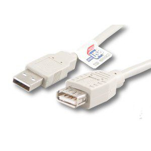 "500020/03BG - USB 2.0 ""A"" Male to ""A"" Female 3FT Beige"