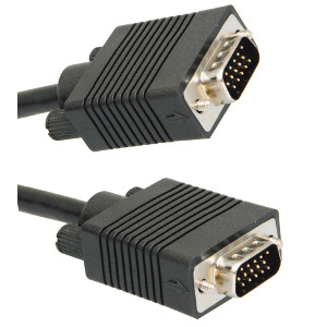 500190/01.5BK - SVGA Cable w/Ferrites - Male to Male - 1.5ft