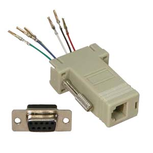 503170 - Modular Port Adapter - DB9 Female to RJ12 Female