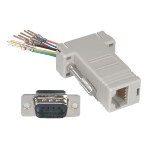 503171 - Modular Port Adapter - DB9 Male to RJ12 Female