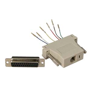 503175 - Modular Port Adapter DB25 Female to RJ12 Female