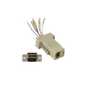 503180 - Modular Port Adapter - DB9 Female to RJ45 Female