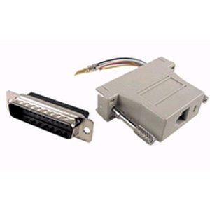 503185 - Modular Port Adapter - DB25 Male to RJ45 Female