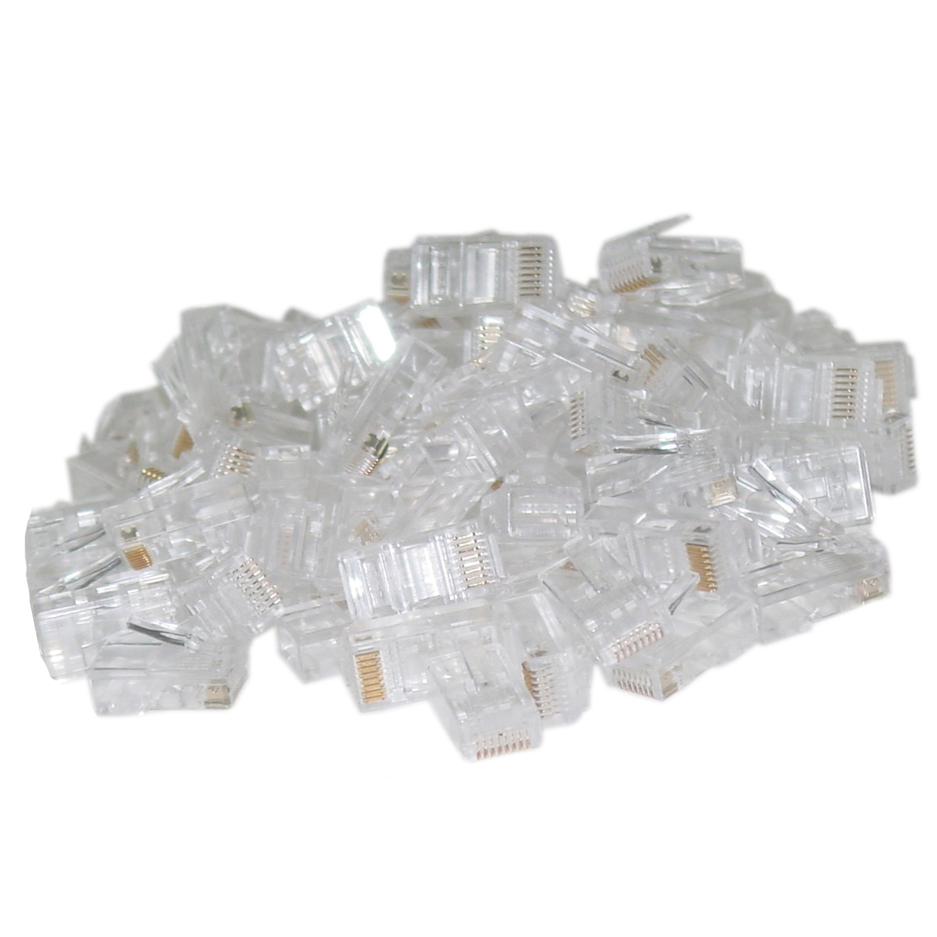 Cat 6 Cable Components Teledata Express Wiring Cat6 Sockets 108700 Rj45 Crimp On Connector Plugs For Solid Bag Of 50
