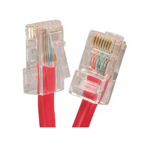 101942RD - CAT5e 350MHz Bootless UTP Ethernet Network RJ45 Patch Cable - Red - 2ft